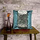 #8: Cortina Reversible Sequin Velvet Magical Color Changing Decorative Magic Pillow Cover Glitter Sofa Bed Home Car Decor Cushion Cover Case -Perfect Gifts Gifting Option For Relative Friends Others (16x16 inch)