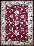 Aspekt 120x 170cm Polypropylen Herz Oriental Traditionelle eingefasst Teppich/rot Hintergrund mit Bordüre beige, rot