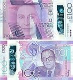 Gibraltar - 2017 £100 Sammlerbanknoten (Unzirkuliert)