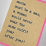 Père Noël doit être un homme, une femme Aurait jamais Porter le même Tenue Année après Année.�Udx11Paillettes carte de Noël en comptant étoiles