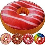 PROHEIM Donut Kissen 40 cm Super Softes Dekokissen dekoratives Zierkissen Sitzkissen Extra Dick und Extra Flauschig Variante Wählbar, Farbe:Erdbeerlasur