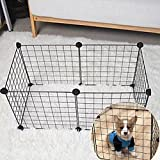 ROKF 6 Paneles de Valla de Metal para Perro o Gato, Conejo, Puerta de Ejercicio, Parque de Juegos para Cachorros, Valla de Cerca, Jaula para Correr, Suministros para Mascotas en Interior/Exterior