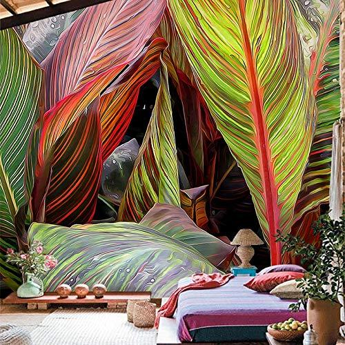 Ristorante Cafe Galleria di Arte wallpaper 3D Stereo Pioggia Foresta Piante di Colore Foglie di Banano Murale wallpaper Foto Murales De Pared 3D cchpfcc-400X280CM