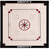 Briovy Carrom Board 26 inches Medium Size 100% Waterproof with Carrom Corner Protection, Coins, Striker and Powder…