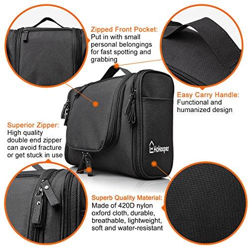Heavy Duty Waterproof Hanging Toiletry Bag - Travel Cosmetic Makeup ... de55900260f7f