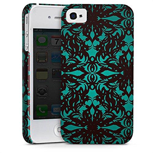 Apple iPhone X Silikon Hülle Case Schutzhülle Muster Gothic blumenmuster Premium Case glänzend