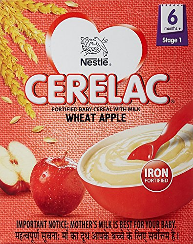 Nestlé CERELAC Infant Cereal Stage-1 (6 Months-24 Months) Wheat Apple...