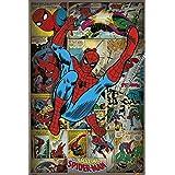 Marvel Póster, diseño retro de Spider-Man, multicolor, 61 x 91,5 cm