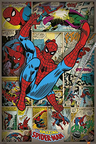 Marvel Comics Spider-Man 'Retro' Maxi Poster,61 x 91.5 cm