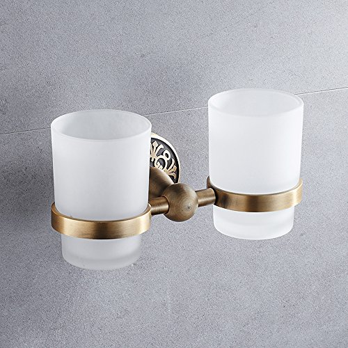 LY-toothbrush cup holder Antique Zahnbürstenhalter Set europäischen Stil Zahn Becherhalter Mund Becherhalter Paar Doppel Becherhalter - Cup Holder Zahn