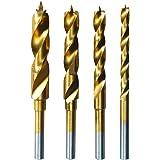 Dremel 636 - Brocas con recubrimiento de titanio, juego de accesorios de 4 brocas para herramienta rotativa (3 mm, 4 mm, 5 mm