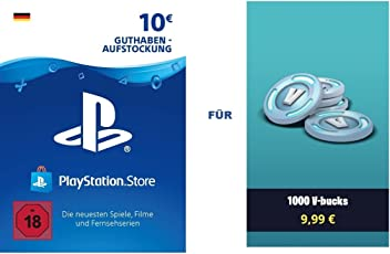 PSN Guthaben für Fortnite - 1.000 V-Bucks - 1.000 V-Bucks DLC | PS4 Download Code - deutsches Konto