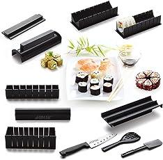 10-teiliges Sushi Maker Kit - Formen Und Werkzeuge Von Sushezi, Sushi-Rolle machen Komplett-Set Mit Sashi Messer DIY Selber Sushi machen