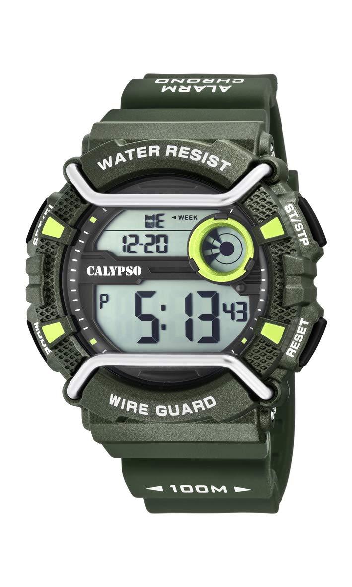 Calypso Watches Reloj Digital para Hombre de Cuarzo con Correa en Plástico K5764/5