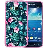 Funda Samsung Galaxy Express 2, WoowCase [ Samsung Galaxy Express 2 ] Funda Silicona Gel Flexible Flores Tropicales 2, Carcasa Case TPU Silicona - Rosa