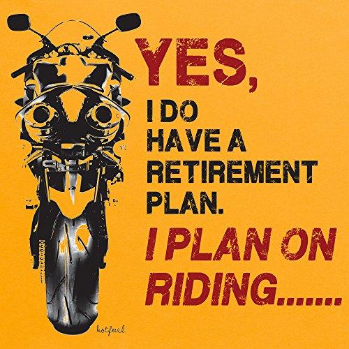 Retirement Plan T-Shirt, Herren Gelb