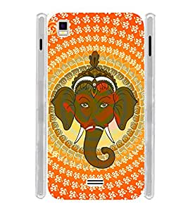 Pattern Ganesha OM Soft Silicon Rubberized Back Case Cover for Intex Aqua Star 5.0