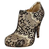 Ladies Anne Michelle Heeled Ankle Boots L3376 Light Gold Size 4