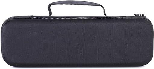Premium Tragetasche Cover Case Tasche Hülle für DOCKIN D Fine 50W Stereo Hi-Fi Bluetooth Speaker, Passend für USB-Kabel und Ladegerät (Schwarz)