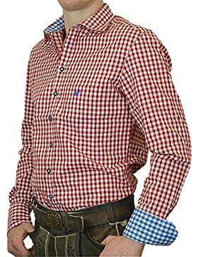 OS Trachtenhemd Leopold mit Kontrasten Slim Line in verschiedenen Ausführungen