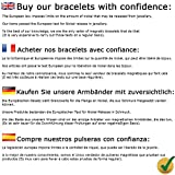 MPS® EUROPE Classic Titanium Magnetic Bracelet with Fold-Over Clasp, Powerful 3,000 gauss Magnets + Free Gift Wallet + FREE Links Removal Tool Bild 7