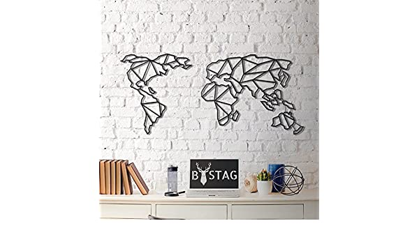 Wall Sculptures Home Kitchen Size Dorm Wire Size Continent 23 6 X 51 2 Bedroom 23 6 X 51 2 Wire Metalic World Map Lamodahome Modern Wall Art 100 Metal Wall Hanging For Living