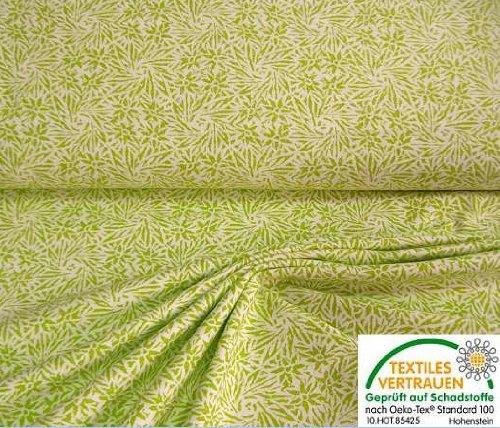 Leichter, beidseitig angerauhter, bedruckter Baumwollstoff in weiß, apfelgrün, geeignet für Trachtenmode und Landhausstiel. (Flanell) (Schadstoff geprüft nach Oeko-Tex Standard 100)