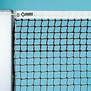Tennisnetz ca. 3 mm ø stark, schwarz, mit 5 Doppelreihen oben