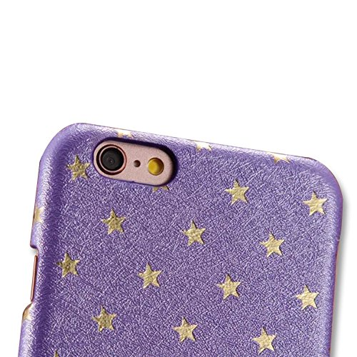 per Apple iPhone 7 Plus (5.5) Custodia Cover,Herzzer Mode Creativo Elegante Star Hard PC Blu Stelle Bumper caso,Protettiva 360 Gradi Anti-Scratch Case cover per iPhone 7 Plus (5.5) + 1 x Gratuito Ba Viola