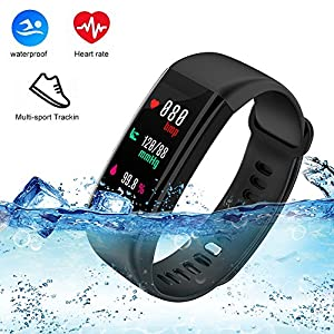 61AZOy j3qL. SS300  - weton Fitness Tracker with Heart Rate Monitor, Bluetooth Smart Bracelet Activity Tracker with Blood Pressure IP68 Waterproof Sports Wristband for IOS&Android