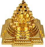 buycrafty Blessed & energetisierte Shri Sri Meru Yantra in reinem Messing und Gold polished-for geistige Kräfte, Korrigieren Vaastu DOSH (Unwucht), enormen Reichtum und Wohlstand Home Decor