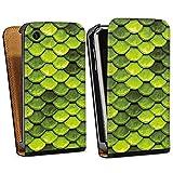DeinDesign Apple iPhone 3Gs Étui Étui à Rabat Étui magnétique Écailles Vertes
