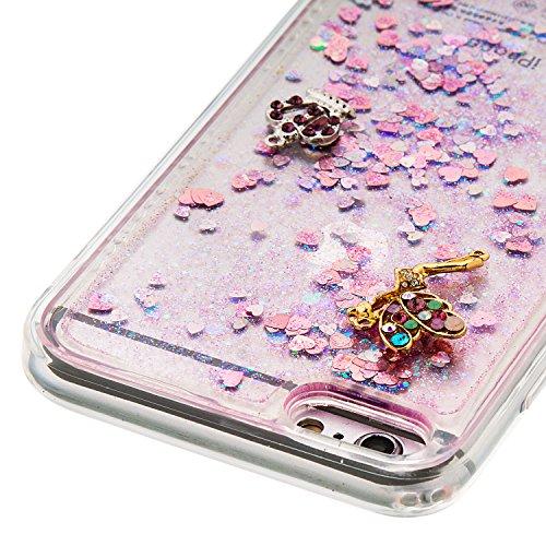 Strass Coque iPhone 6 Plus / 6S Plus Case 3D Liquide Sables Mouvants Design, Sunroyal Bling Glitter Paillettes en Soft TPU Coque pour iPhone 6 Plus / 6S Plus (5,5 pouces) Etui Bumper Dual Layer Plasti A-02