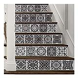 LYLP Autocollants d'escalier Auto-adhésifs 3D, Autocollants de carrelage Vintage,...