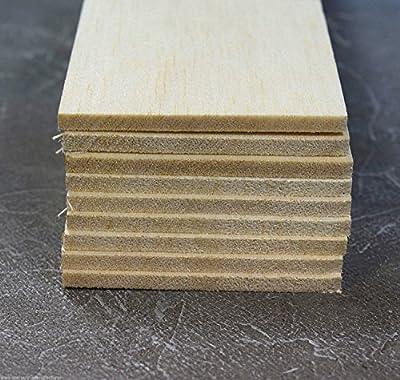 "Balsa Feuilles en bois 5mm (3/16) Diamètre 305mm (12 "") Long 9 Pack A4"