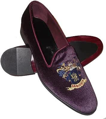 Scarpe Pantofole, Slippers in Velluto con Ricamo Stemma di Famiglia Personalizzabile