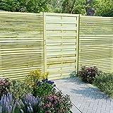 Tidyard- Gartentor Hoftor Imprägnierte Kiefer 100 x 175 cm Holzgartentor Gartentür Zauntür Gartenzaun Holz Garten holztor für Garten oder Terrasse