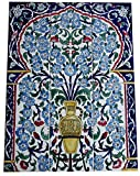 Spanische Fliesen handgemalte Fliesen Fliesenbild Blumen Keramikfliesen 45x60 Wand-Bodenfliesen