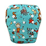 OHBABYKA Baby Reusable Washable Swim Diaper Pants Pool Cover, One Size (Diving)