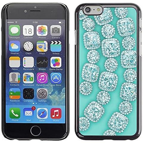 GooooStore/Dura Custodia Rigida della copertura della cassa - Gemstones Gems Green Bling - Apple iPhone 6