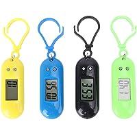 NICERIO 4 x Orologio da tasca elettronico, leggero, portatile, con clip, mini orologio da tasca orologio digitale…