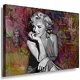 Julia-art Leinwandbilder - Marilyn Monroe Hollywood Legend Bild 1 teilig - 60 mal 40 cm Leinwand auf Rahmen - sofort aufhängbar ! Wandbild XXL - Kunstdrucke QN.169-2
