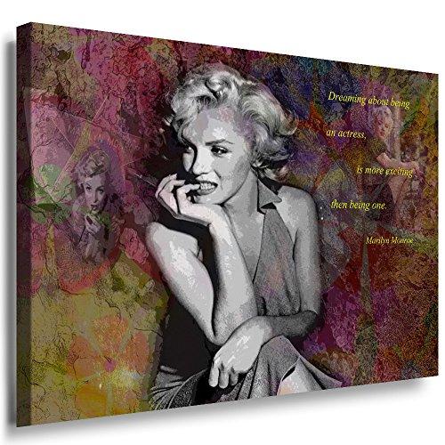 Julia-art Leinwandbilder - Marilyn Monroe Hollywood Legend Bild 1 teilig - 70 mal 50 cm Leinwand auf Rahmen - sofort aufhängbar ! Wandbild XXL - Kunstdrucke QN.169-3