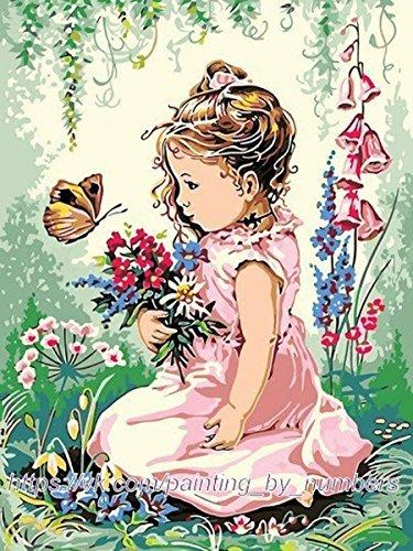 GMMH Diamond Painting Set Image 30 x 40 Diamant Peinture Broderie à la Main Bricolage mosaïque Panier à Fleurs Fille