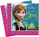 20 Servietten * Frozen - Die Eiskönigin * für Party und Geburtstag // Geburtstag Party Fete Set Disney Prinzessin Anna Mädchen Mottoparty Npkins