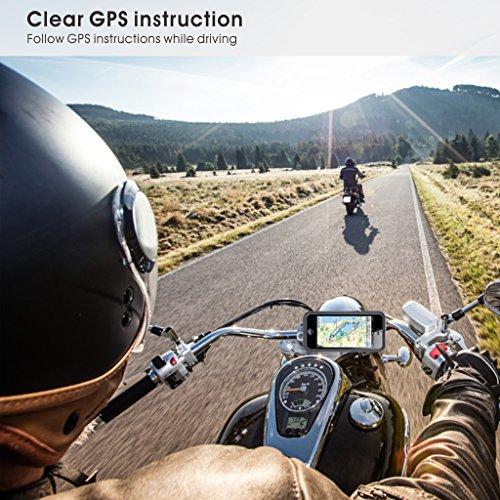 Avantree WASSERFESTES Motorradhelm Bluetooth Intercom Headset mit Mikrofon für Motorräder Fahrer, Motorrad Kopfhörer für Freisprechanlage Anrufe, GPS (TOMTOM, Garmin Zumo Navigation), Musik - 3