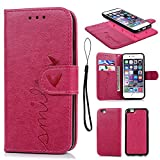 iPhone 6 Case Leather Cover, iPhone 6S C...