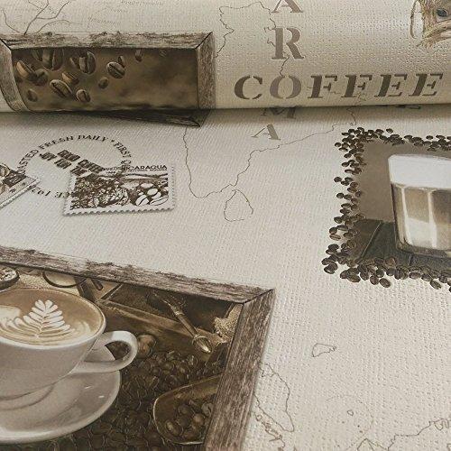 *Rasch Motiv Kaffee Cappuccino Mocca Vinyl Tapete Küche 855104 Photo*