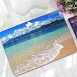 Ozean Meer Welle Fußmatte Türmatte Fußabstreifer Schmutzfangmatte für Haustür Innen und Außen 40x60cm