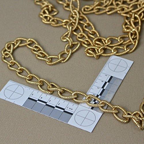 kawenSTOFFE Deko Kette - Gold Messing - Metallkette - Gliederkette - 1,3 cm